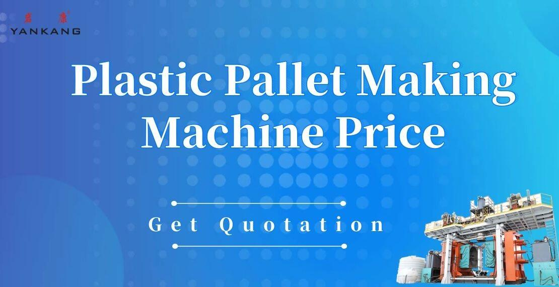 plastic pallet making machine price