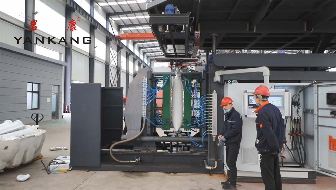 warning-column-blow-molding-machine-testing