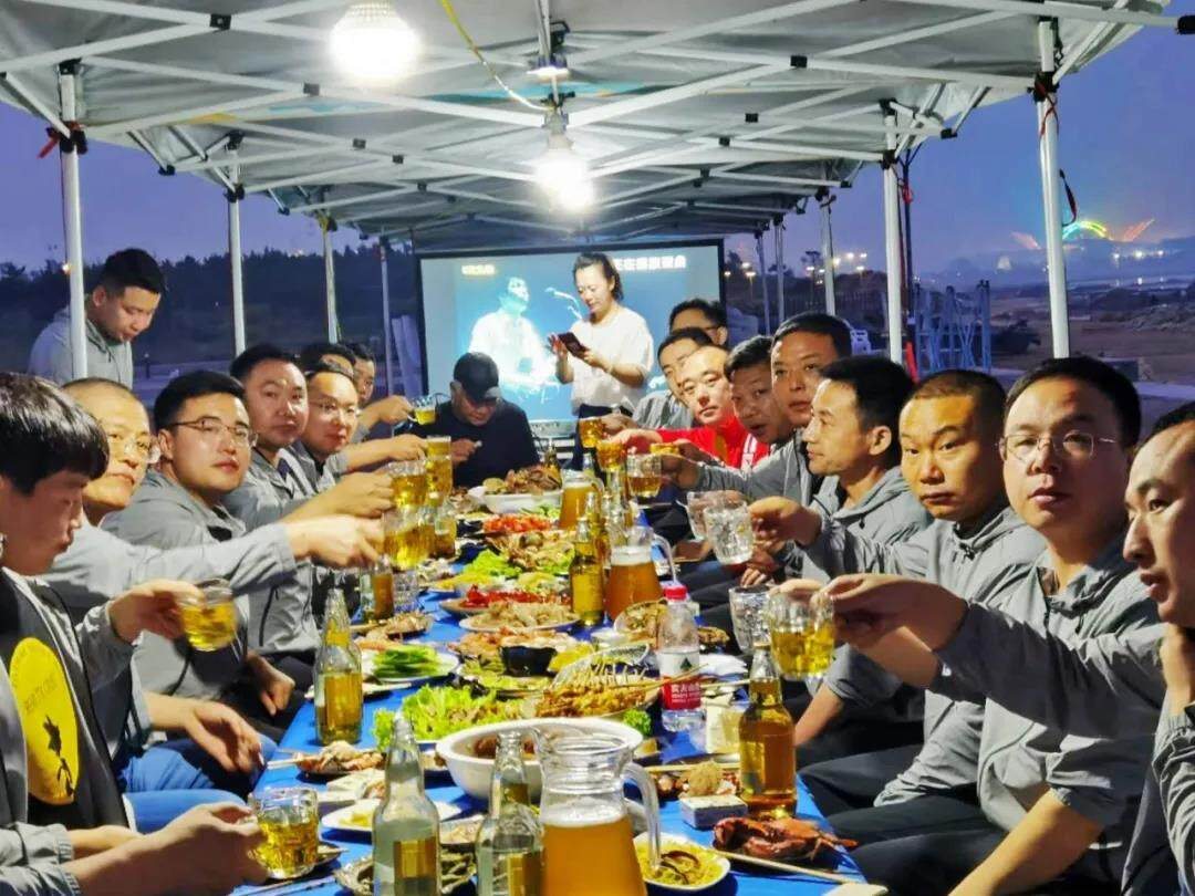 Yankang-Group: The-First-Executive-Team-Building-Activity-in-2020-barbecue